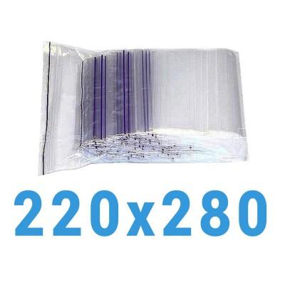 Пакеты с замком zip-lock 220*280 мм
